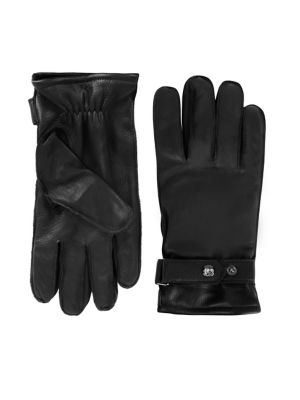 b263d5162a6f62 Snap Belted Leather Gloves BLACK. QUICK VIEW. Product image