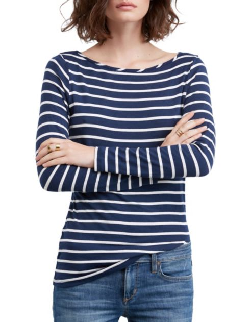 Fit Amour Top Vert Semi Neck Boat CWdxBeor