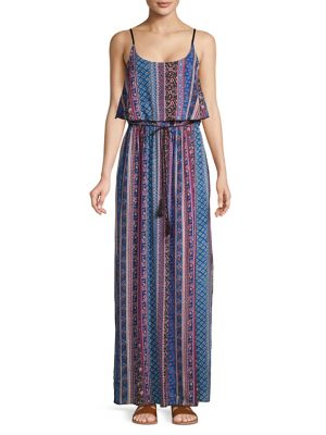 4b8fc8ab33e QUICK VIEW. Lori Michaels. Printed Popover Maxi Dress