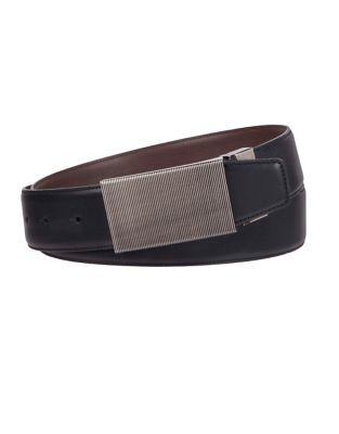 beb62c0801875 Reversible Vertical Etch Plaque Belt BLACK BROWN. QUICK VIEW. Product image
