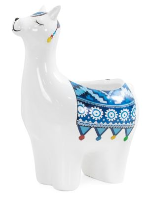 Torre & Tagus Parading Llama Ceramic Pot