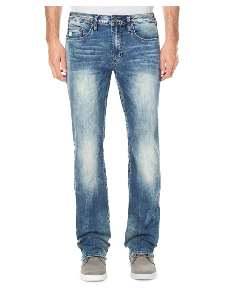 Sandblasted Straight Leg Jeans by Buffalo David Bitton