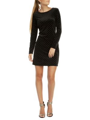 eb24634a50bd QUICK VIEW. Dex. Studded Velvet Mini Dress