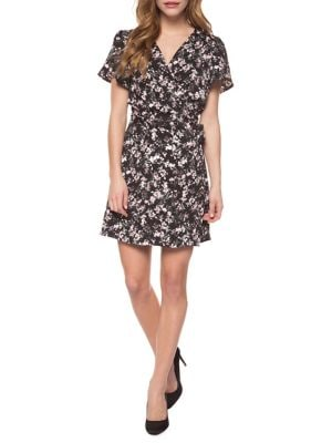 Short Sleeve Printed Wrap Dress Multi-Colour. QUICK VIEW. Product image c9a506f56