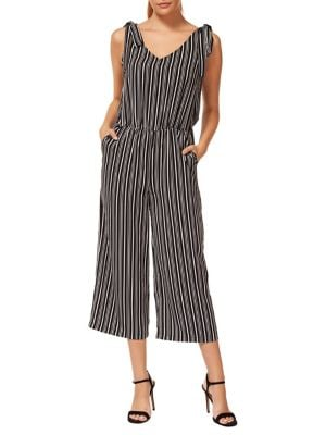 3b86b0e6dce2 1  2. Striped Blouson Jumpsuit Black. QUICK VIEW. Product image