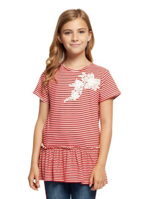 4dffaedb3fa088 QUICK VIEW. Dex. Girl s Embroidered Striped Top