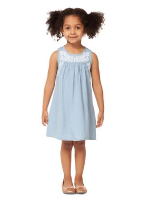 d57a7ed82b4562 Little Girl s Embroidered Chambray Dress 70075-BLUE. QUICK VIEW. Product  image