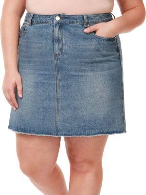 83974d43ce Product image. QUICK VIEW. Dex. Plus Frayed Hem Denim Skirt