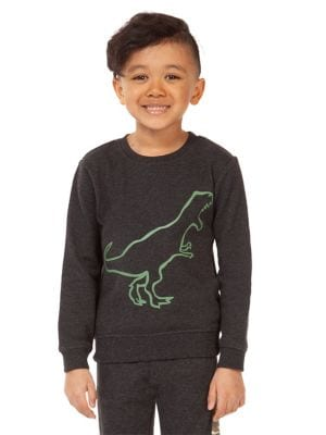 7877e0140 Little Boy's Dinosaur-Print Cotton Blend Sweatshirt GREY. QUICK VIEW.  Product image