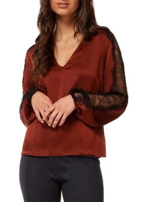 7000d7d157ca05 Product image. QUICK VIEW. Dex. Long Lace Sleeve Blouse