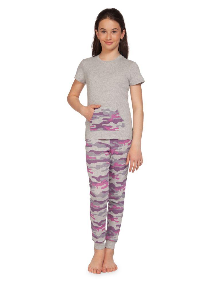 sélectionner pour l'original Achat/Vente Promotion de ventes Dex Pyjama deux pièces en mélange de coton à motif camouflage pour fille