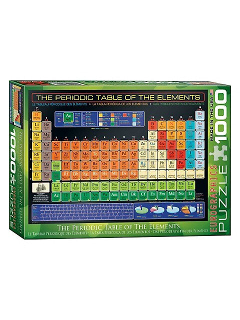 Eurographics The Periodic Table Of The Elements 1000 Piece Jigsaw