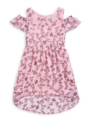 c944462a068 Girl s Cold Shoulder Floral Print Dress BLUSH. QUICK VIEW. Product image
