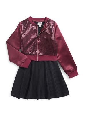 0e92ad65eaf8 QUICK VIEW. 4EVER FREE. Girl's 2-Piece Sequin Bomber and Dress Set. $60.00  Now $36.00