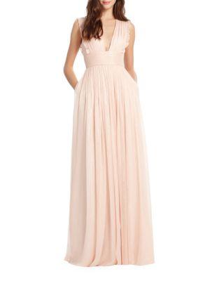 Quick View Monique Lhuillier Bridesmaids Lily Metallic Chiffon Gown