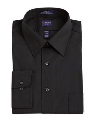 88d49034bda Solid Poplin Shirt BLACK. QUICK VIEW. Product image