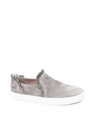 Lilly Ruffle Slip On Suede Sneakers by Kate Spade New York