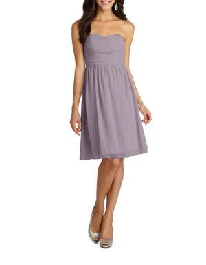1ac9c52b37331 Donna Morgan - Sarah Short Strapless Sweetheart Chiffon Dress - thebay.com