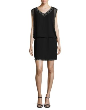 bcfeaae752973 J Kara - Beaded Blouson Dress - thebay.com