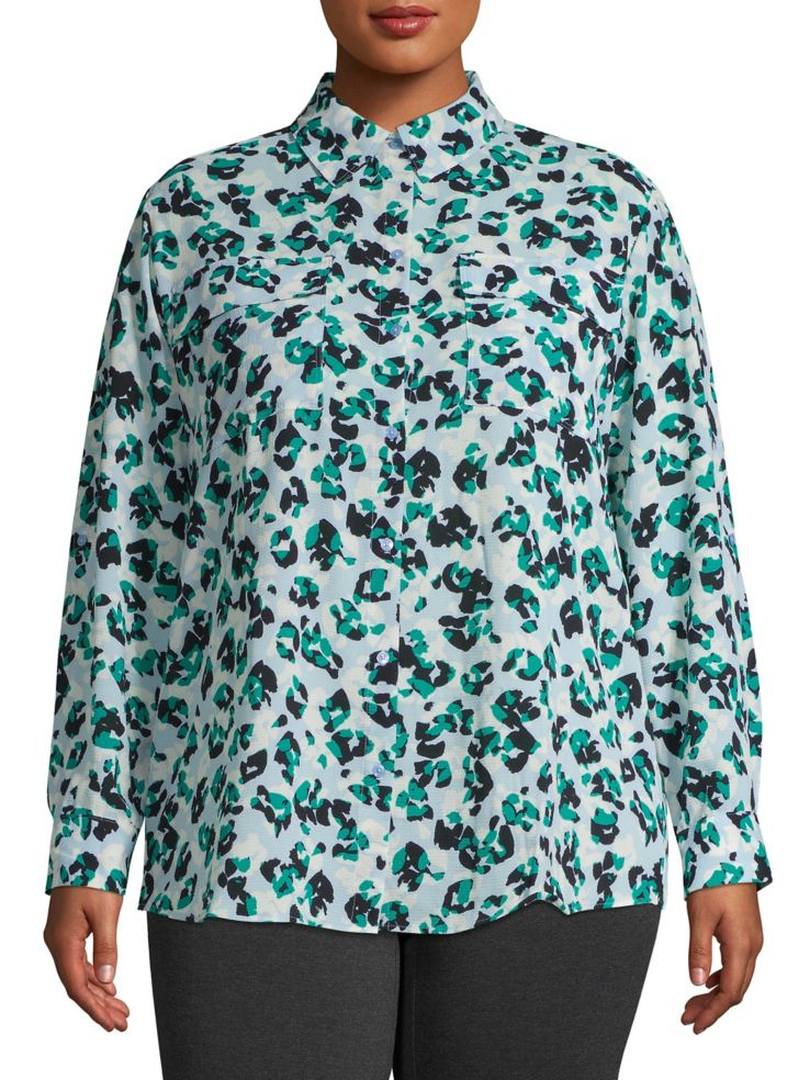 b30bb5358 JONES NEW YORK WOMEN - Printed Button-Down Shirt - thebay.com
