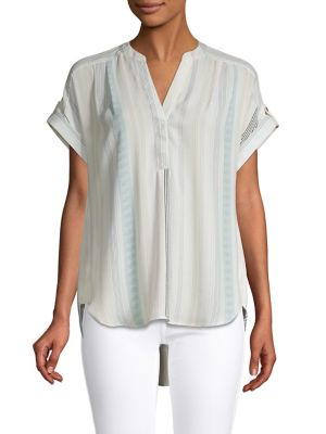 f3677bf719946b Product image. QUICK VIEW. Jones New York. Striped Cap-Sleeve Top