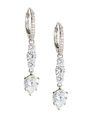 dcc20e490 Product image. QUICK VIEW. Nadri. Silvertone & Crystal Drop Earrings