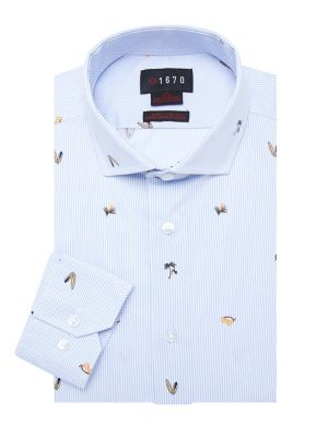 Boys Arrow $22 Purple Long Sleeved Dress Shirt W// Tie Size 8-20