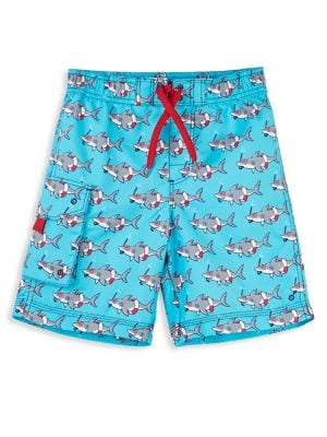 59ac1c93f6 Little Boy's Shark Swim Trunks GREEN. QUICK VIEW. Product image