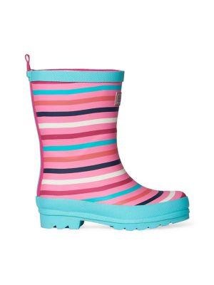 26234a80e Product image. QUICK VIEW. Hatley. Kid's Striped Rubber Rain Boots
