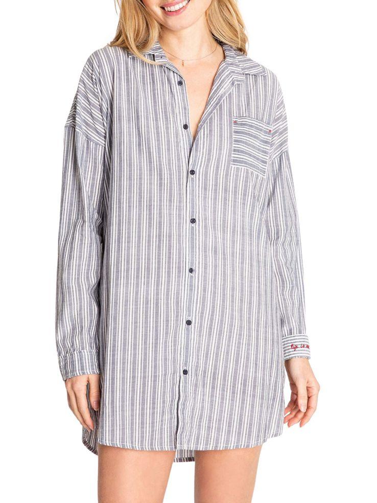 3dd1388e06 PJ Salvage - Mon Cheri Striped Night Shirt - thebay.com