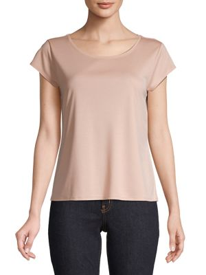faf057e86 QUICK VIEW. Eileen Fisher. Scoop Neck Cap Sleeve Tee