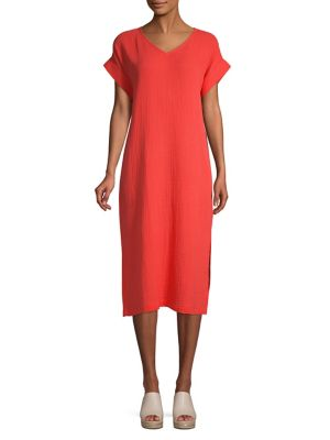 99301425d10 QUICK VIEW. Eileen Fisher. V-Neck Short Sleeve Dress