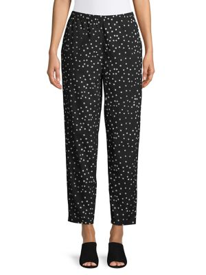 685bc09c53 QUICK VIEW. Eileen Fisher. Polka Dot Tapered Ankle Pants