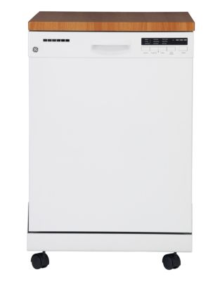 GE Portable Dishwasher with Stainless Steel Tub - White photo