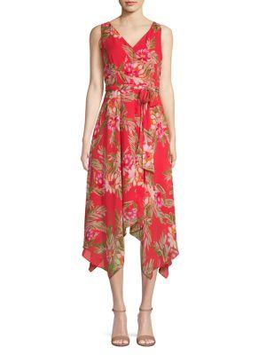 19ae11621f QUICK VIEW. Eliza J. Floral-Print Handkerchief Midi Dress