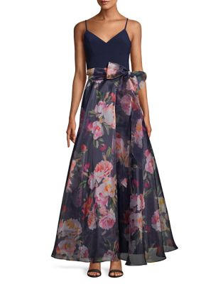 0a80362a6edd8 QUICK VIEW. Eliza J. Floral Self-Tie Tulle Gown