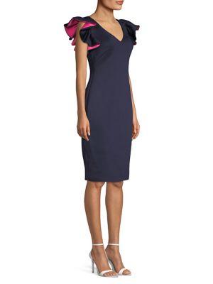 Short Ruffle Sleeve Dress by Eliza J