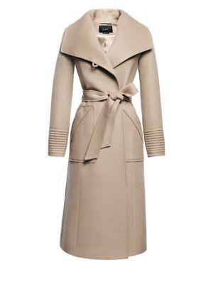 Wide Collar Long Wrap Coat by Sentaler