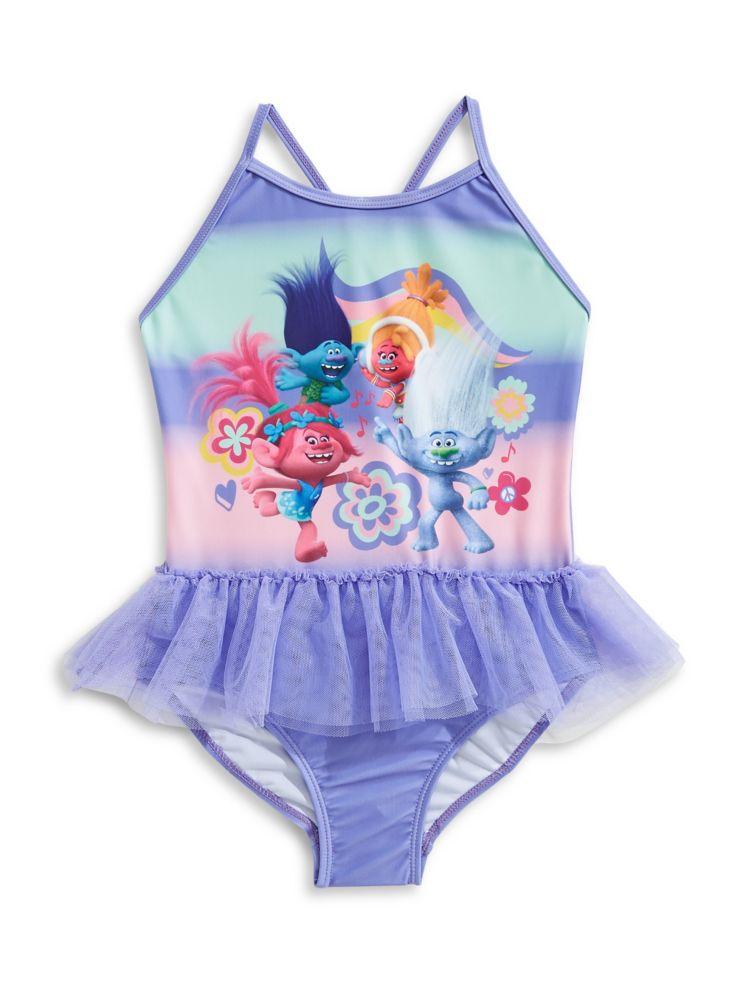 32fcc5b832608 NTD - Little Girl's One-Piece Trolls Swimsuit - thebay.com