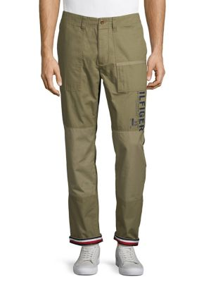 d8b699cc Product image. QUICK VIEW. Tommy Hilfiger. Logo Cotton Pants. $98.50 Now  $68.95 · Slim Fit Plaid Wool-Blend Pants WHITE/GREY