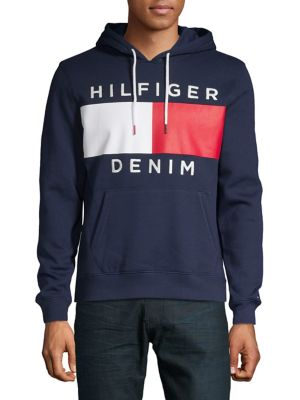 83518bd0 Product image. QUICK VIEW. Tommy Hilfiger Denim. Logo Fleece Drawstring  Hoodie