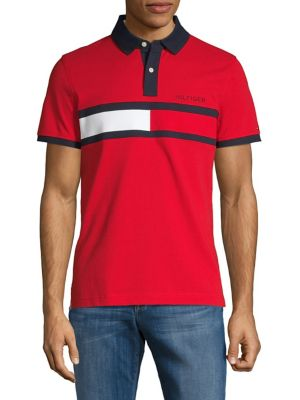 2c6e5aa78491e Product image. QUICK VIEW. Tommy Hilfiger. Flag Logo Cotton Polo. $79.50  Now $39.75. today only · Custom-Fit Short-Sleeve Button-Down Shirt WHITE