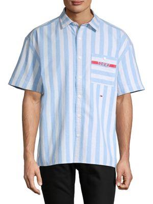 e15b05867 QUICK VIEW. Tommy Hilfiger Denim. Nicolas Striped Short Sleeve Sport Shirt