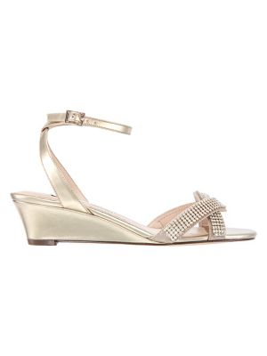 334074b727 Product image. QUICK VIEW. Nina. Florina Embellished Metallic Wedge Sandals.  $129.00. Now $64.50 - $77.40