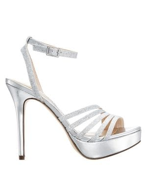 fe35f392cb Nina. Florina Embellished Metallic Wedge Sandals. $129.00. Now $64.50 -  $77.40 · Starla Glitter Heeled Platform Sandals SILVER. QUICK VIEW. Product  image