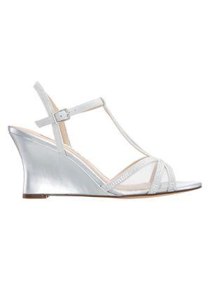 55a92c27bf4d Nina - Viveca Embellished Wedge Sandals - thebay.com