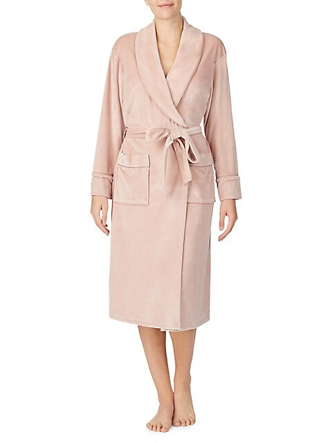 Essentials Mid-Length Plush Robe Donna