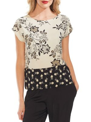 b8ca1367167099 Product image. QUICK VIEW. Vince Camuto. Floral Colourblock Blouse