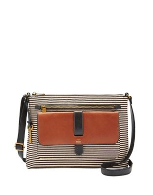 254a0cc74a861 Product image. QUICK VIEW. Fossil. Striped Crossbody Bag