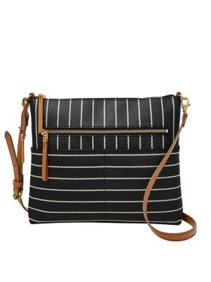 d8ca852df QUICK VIEW. Fossil. Large Fiona Striped Crossbody Bag